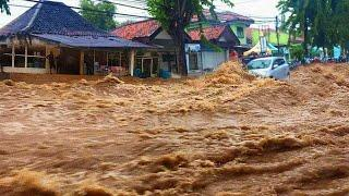 Malaka Regency is drowning. Flash flood in 26 villages, Indonesia.