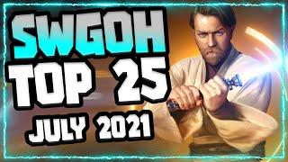 SWGoH Top 25 Characters Overall!! July 2021   Where does Kenobi Fit?   Star Wars: Galaxy of Heroes