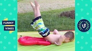 TRY NOT TO LAUGH or GRIN - Best KIDS WATER FAILS Compilation | Funny Vines 2018